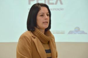 A monitora do PEIEX em Chapecó, Inocência Boita Dalbosco Correio, recebeu os convidados e explanou sobre o PEIEX