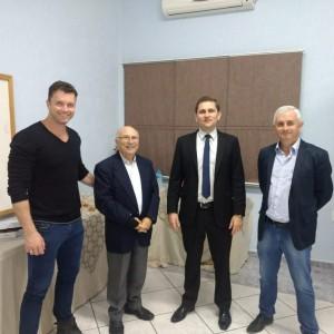 Douglas Lenhardt (MPO), Vincenzo Mastrogiacomo (AIRON), Marcelo Cunha Jr, Gilberto Lenhardt (MPO)