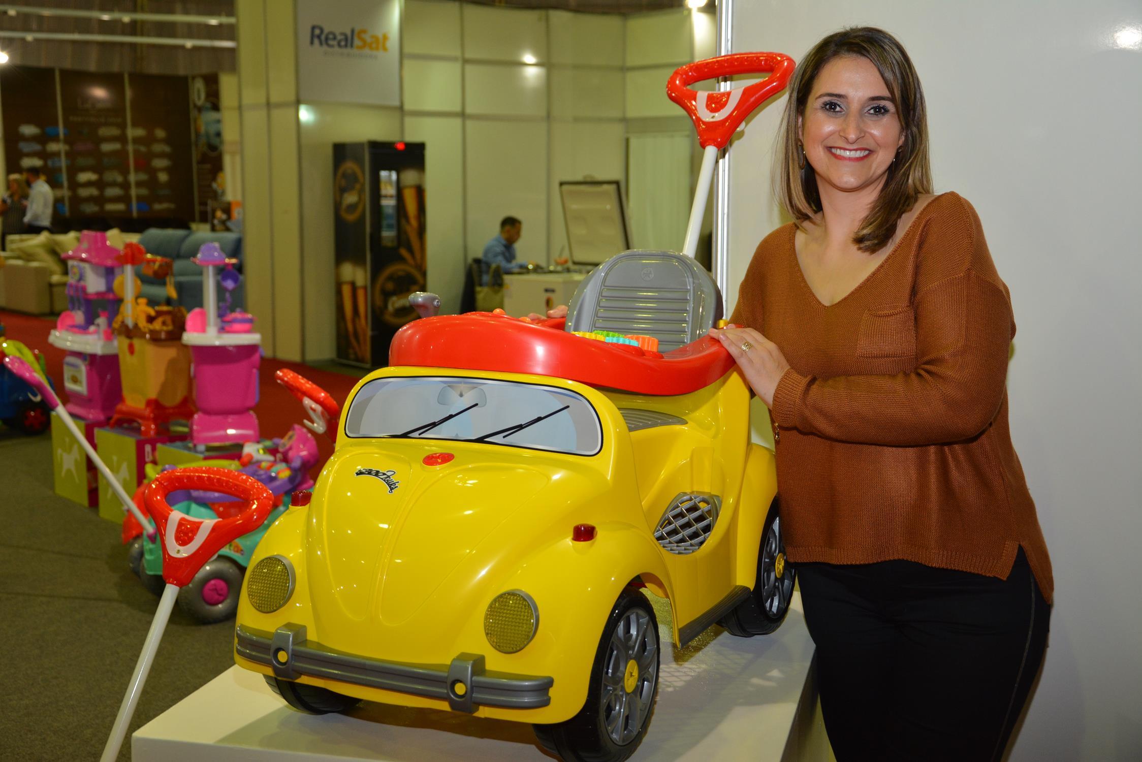 Gerente comercial Josiane De Mattos destaca que essa é a primeira vez que a Calesita participa da feira