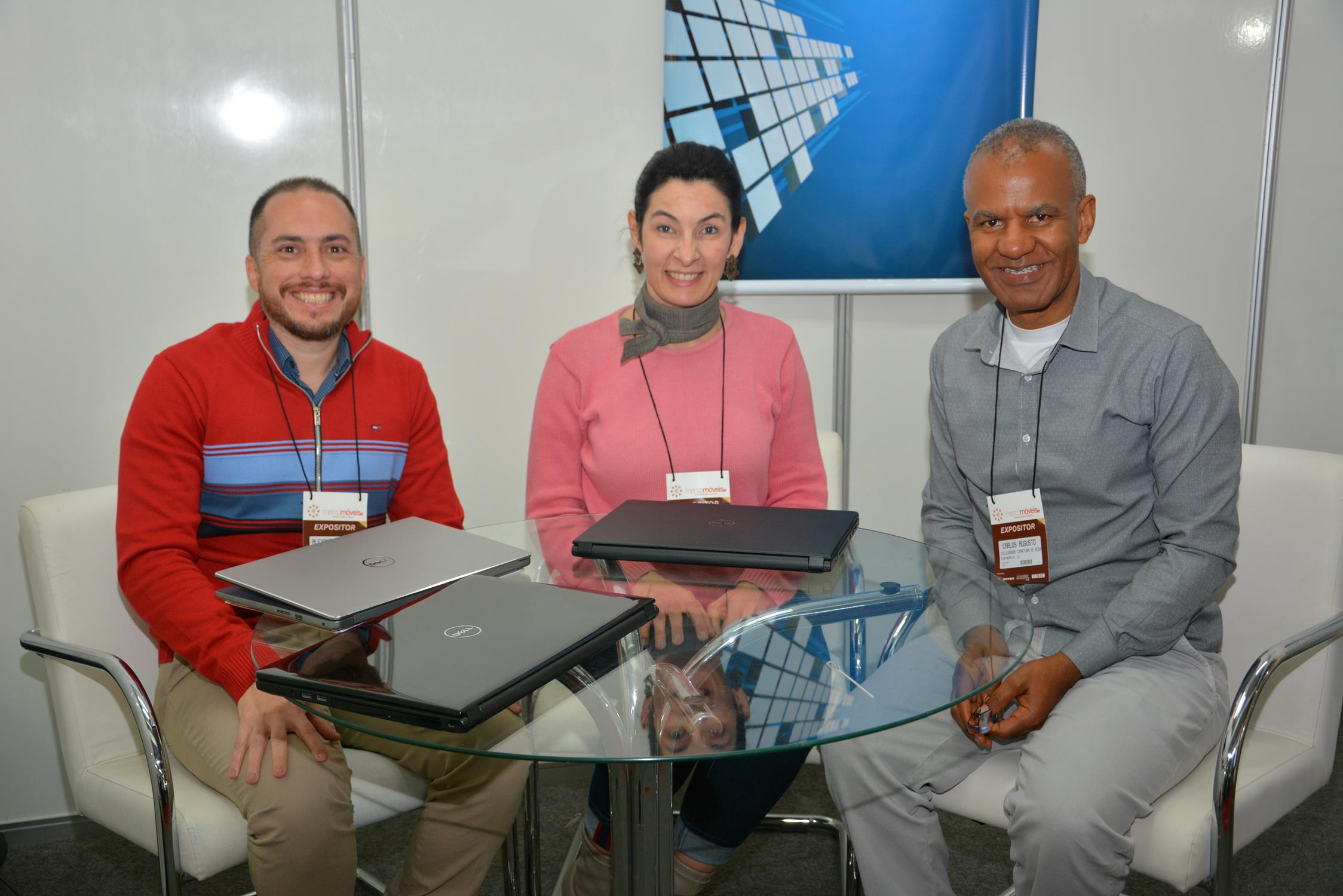 Alexandre Pass (Cesce Brasil), Cleide Perin (Corretora Villegagnon) e Carlos Augusto Silva (Corretora Villegagnon)
